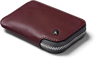 Bellroy Leather Card Pocket Wallet (Max. 15 Cards and Bills) - Wine