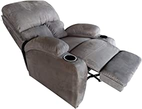 Classic Recliner Chair Upholstered with Controllable Back Grey - CY-2020-5-G