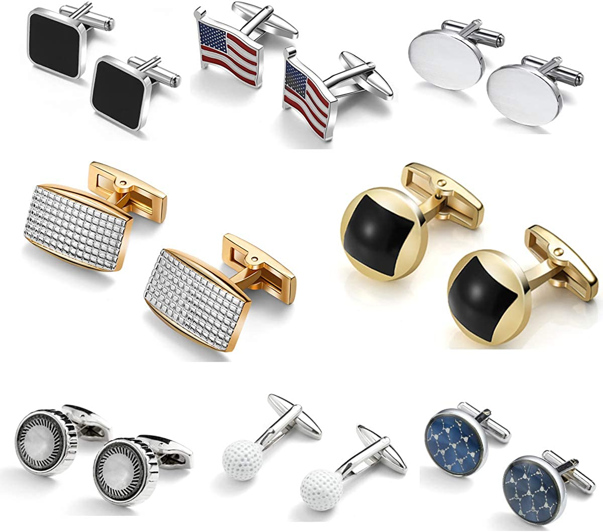 DORICUFF Cufflinks for Men Gift Don't miss the campaign Simple Stylish Set Modern Selling Elegan