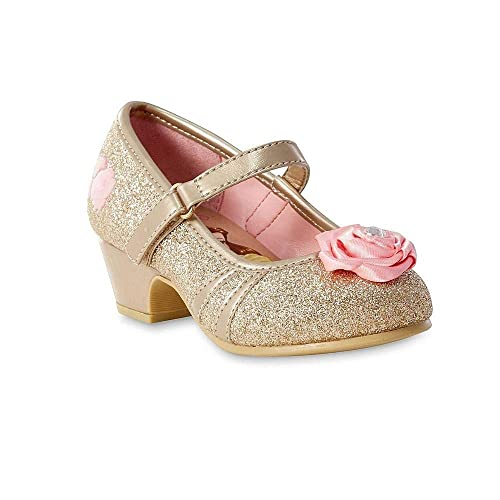 Disney Beauty and The Beast Toddler Girls Princess Belle Gold Shoe