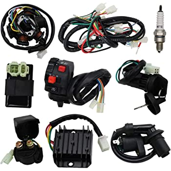 Amazon.com: OTOHANS AUTOMOTIVE Complete Wiring Harness kit Electrics Wire  Loom Assembly with Full Copper Wire For GY6 4-Stroke Four wheelers Engine  Type 125cc 150cc Pit Bike Scooter ATV: AutomotiveAmazon.com