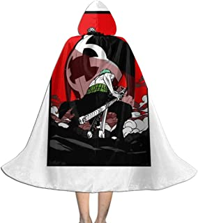 One Piece Zoro Vs Kuma Unisex Kids Hooded Cloak Cape Halloween Party Decoration Role Cosplay Costumes Outwear Black
