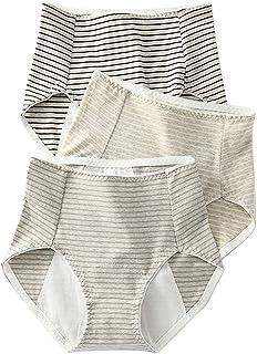 赞助广告- 卫生短裤 3件套 生理裤 生理裤 高腰 提臀效果 女士 内裤 透气 防漏 昼夜用 纯棉 防水布 生理用品