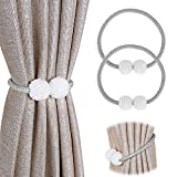 Beenle-Icey 2 alzapaños magnéticos para cortinas, alzapaños y recogedores, para casa, oficina, decoración para restaurantes (gris)