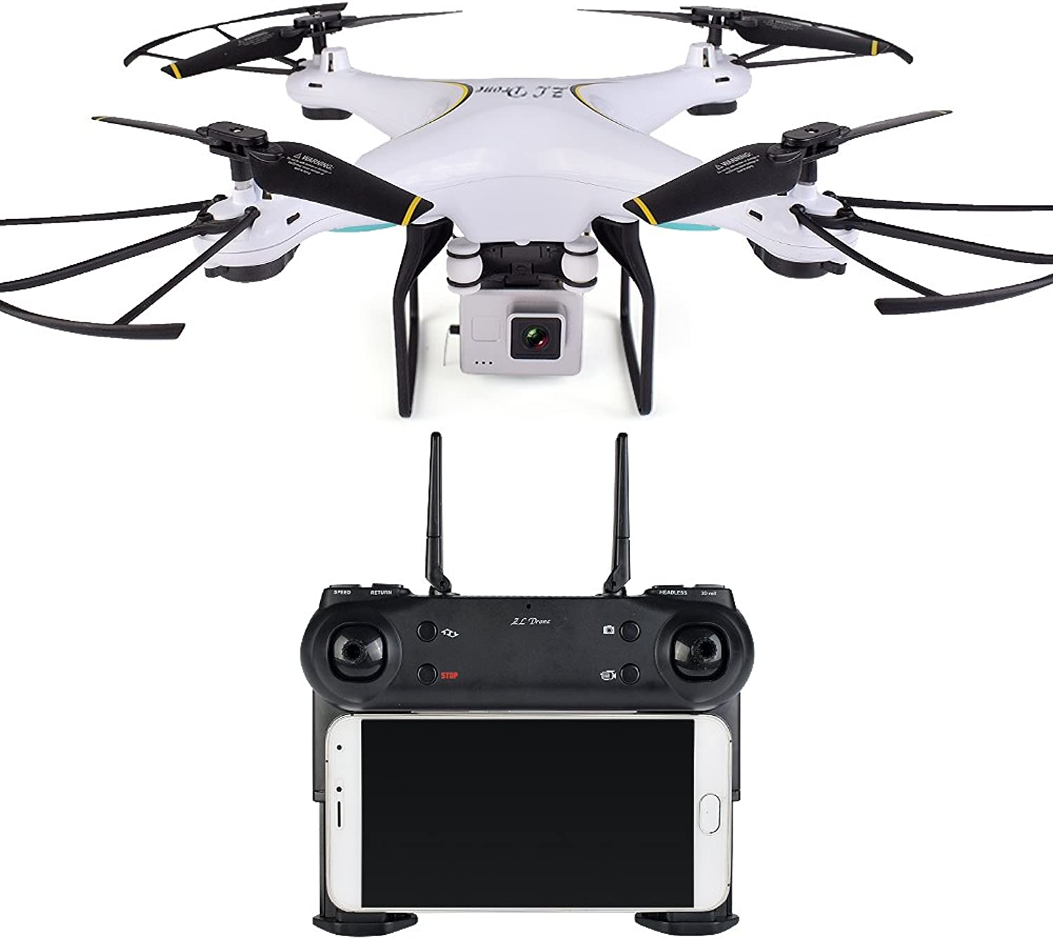 BGNing SG600 RC Drone with 2MP Wide Angle Camera Wifi FPV Quadcopter Auto Return Altitude Hold Headless Mode RC Helicopter