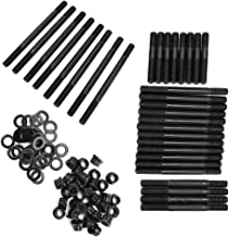 Qiilu Cylinder Head Fasteners, Engine Cylinder Head Stud Kit 279.1005 12-Point Studs Fit for Chevy 396-454/502 BBC