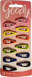 Goody Snap Hair Clips, Girls, Assorted Gel Colors, 12-count, Mini, Pack of 2 (07078)