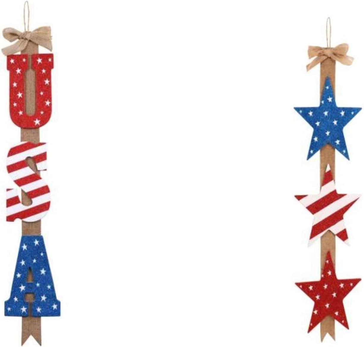 CGT Oakland Mall Patriotic Finally popular brand Hanging Glitter USA Signs Star Burlap Wall