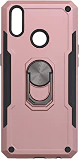 Iron Man Hard Back Cover With Metal Ring And Kickstand For Oppo Realme 3 Pro - Pink