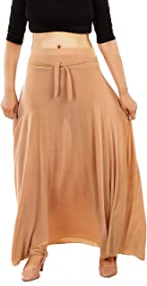 MUKHAKSH (Pack of 1) Women/Girls/Ladies Hot Beige Long Skirts for Casual & Party wear