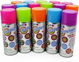 Boley Spray Chalk Washable and Colorful Artwork Fun for Kids Party Pack, 16-Pack - 100 grams