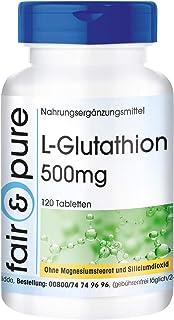 L-Glutatión 500mg - Glutation reducido - Biodisponible - Vegano - Alta pureza - 120 Comprimidos