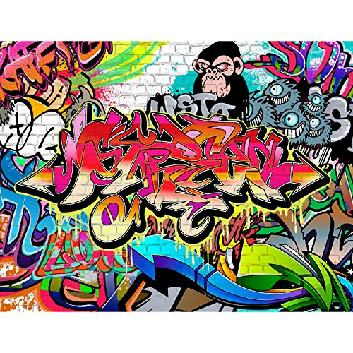 Fototapeten Graffiti Streetart 352 x 250 cm Vlies Wand Tapete Wohnzimmer Schlafzimmer Büro Flur Dekoration Wandbilder XXL Moderne Wanddeko - 100{a85bc5cebed8ae8796900bee474906c3b2014af33de844dfe372f23e0b25cb3d} MADE IN GERMANY - Runa Tapeten 9065011a