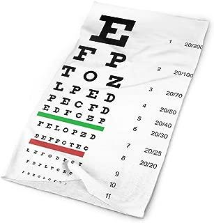 eye chart scarf