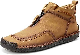 Zapatos Hombre Suave Vintage Zapatillas de caña Alta Al Aire Libre Ultraligeros Botas de Combate de Ante Transpirable Zapa...