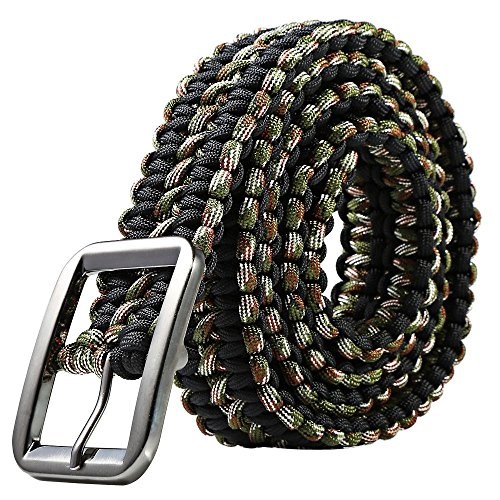 Survival Paracord Belt Camping Woven Multi tools Hand Made Travel Kit