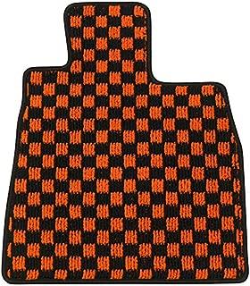 Elgan(エルガン) フロアマット(1台分) ドレスアップシリーズ チェック柄 オレンジ トヨタ マークX 24.08- GRX135  4WD