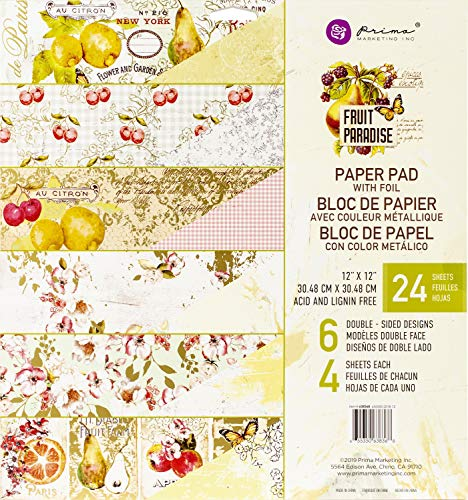 Prima Marketing Fruit Paradise - Bloc de Papel de 12 x 12