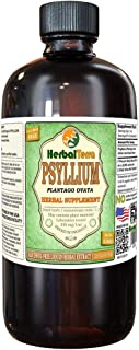 Psyllium (Plantago Ovata) Glycerite, Organic Dried Seed Alcohol-Free Liquid Extract (Brand Name: HerbalTerra, Proudly Made in USA) 32 fl.oz (0.95 l)