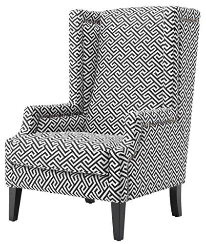 Casa Padrino Designer Sessel Schwarz/Weiß Ohrensessel
