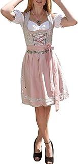 Golden Trachten Kleid Dirndl Damen 3 TLG, Midi für Oktoberfest, mit Schürze und Bluse, 502GT