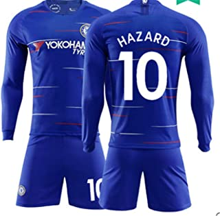 1b82436a916 LISIMKE Soccer Team 2018/19 Chelsea Home Soccer Eden Hazard#10 Mens  Replica&Shorts Kid