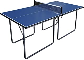Relaxdays Red Ping Pong Extensible para Mesas con Tablero de hasta 5 cm hasta 176 cm Negro y Rojo