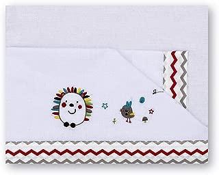 Pirulos 00913510 - Tríptico sábanas, diseño espin, 80 x 140 cm, color blanco y lino