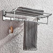 Porta toalha banheiro linear estilo hotel dupla fixação