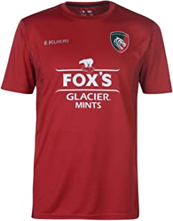 Kukri Leicester Tigers Tech T Shirt Mens Rugby Red/Navy Sports Fan Top
