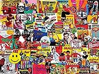 ジグソーパズル1500個セット-有名なポスター-子供の教育用ジグソーパズル木製素材ビッグパズル
