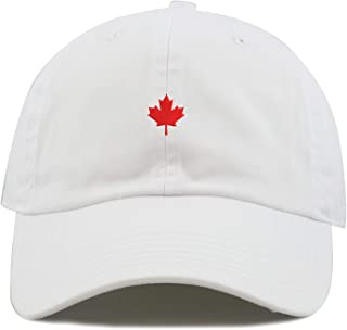 TOP LEVEL APPAREL Canada Maple Leaf Logo Embroidered Low Profiel Soft Crown Unisex Baseball Dad Hat