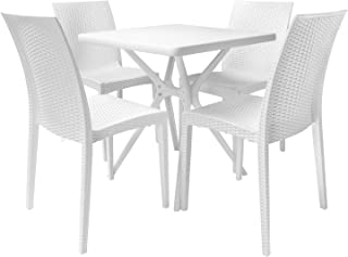 Best outdoor dining table white Reviews