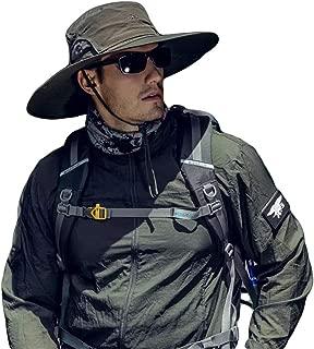UPF Foldable Fishing Sun Hat Summer Bucket Hiking Hats Men Women w/Chin Strap