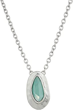 The Sak - Medium Stone Pendant Necklace 18