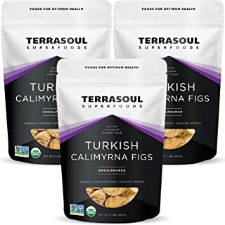 Terrasoul Superfoods Organic Turkish Figs (Calimyrna), 6 Lbs (3 Pack) - No Added Sugar | Unsulphured | Perfectly Dried