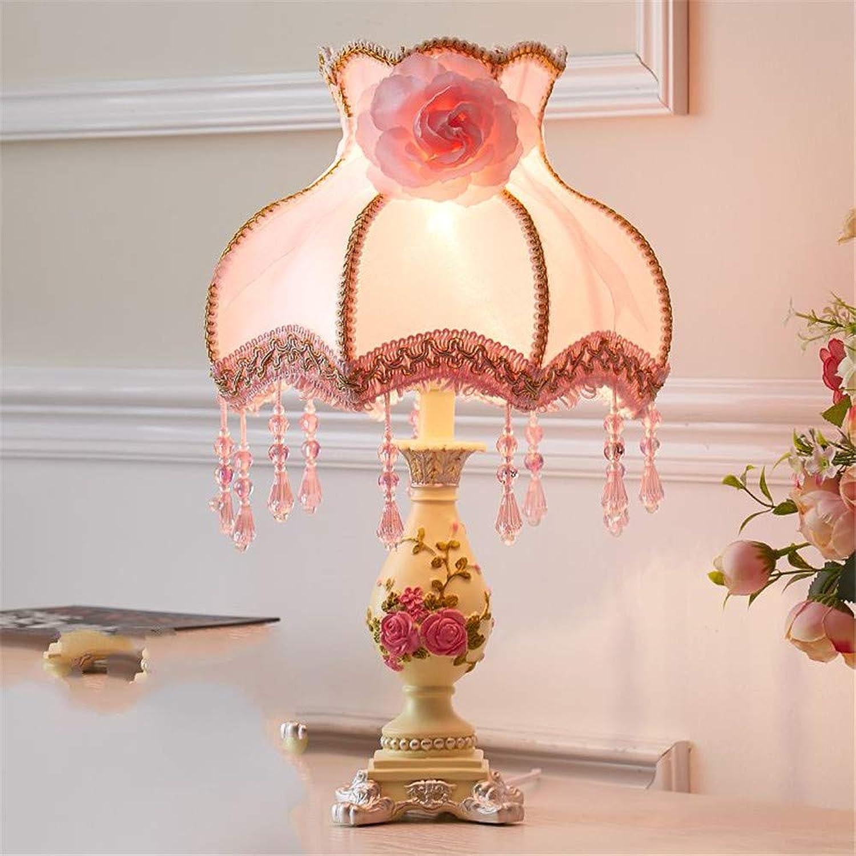 Ehime Tischlampe Schlafzimmer Nachttischlampe kreativ warm romantisch, X, Knopfbereich