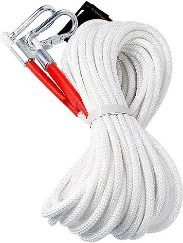 Corde d'escalade, 60, 70, 80 Mètres, Fil d'acier du Diamètre 4mm Corde Sécurité Feu Secours à La Maison D'évasion Corde Délivrance (Taille   80m)