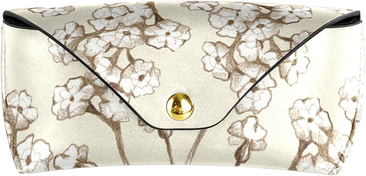 Sunglasses Case Eyeglasses Pouch Multiuse Goggles Bag present PU Leather Flower Pattern Art Portable