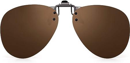 uk1stchoice-zone Flip Up Marrone Clip Su Occhiali da Sole Lenti Polarizzate IT-FBA-SunGlasses1304-Brown