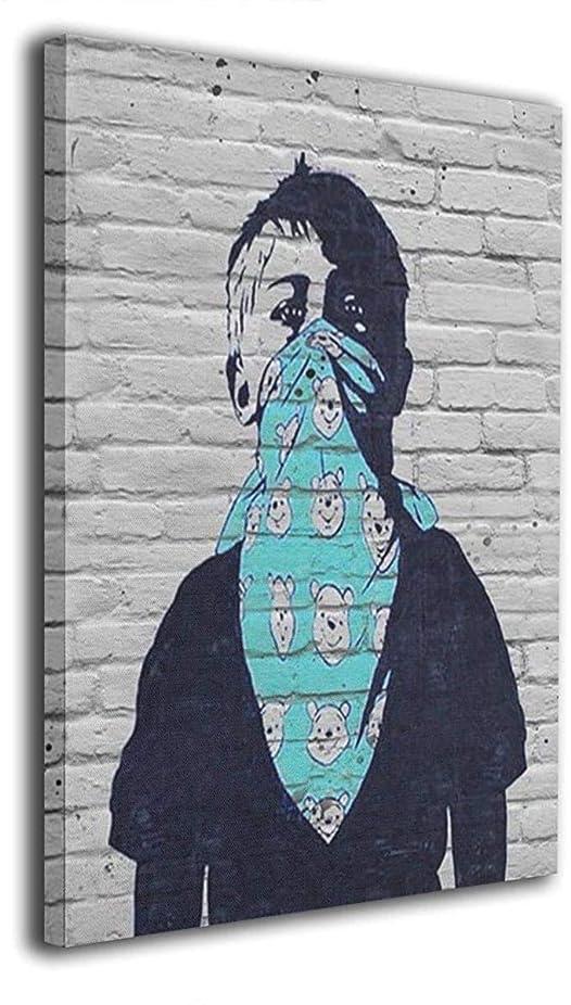 ストラトフォードオンエイボン長くする貼り直す油絵 Banksy装飾画 油画 現代絵画 モダンアート ウォールアート キャンバス寝室の装飾風景 インテリアアート 壁の絵 飾塗装 絵画部屋飾り 壁アート キャンバスアート 40x50cm(フレームレス)