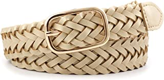 Damen Gürtel Flechtgürtel Gold geflochten Hüftgürtel Taillengürtel ZSP-19052