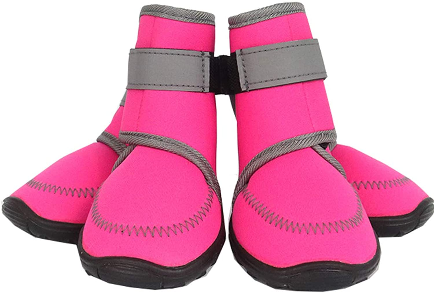 Pet Dog shoes, Autumn and Winter Waterproof Fabric Fashion Warm, Large, Medium and Small Dogs Waterproof Sports shoes,Pink,XXL