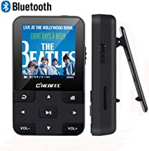 $32 Get Mp3 Player with Bluetooth 4.0 16GB HiFi Lossless Sound Music Player with Fm Radio,E-Book,Voice Recorder,protable mp3 Music Player with Clip,mp3 Palyer for Sports, Black