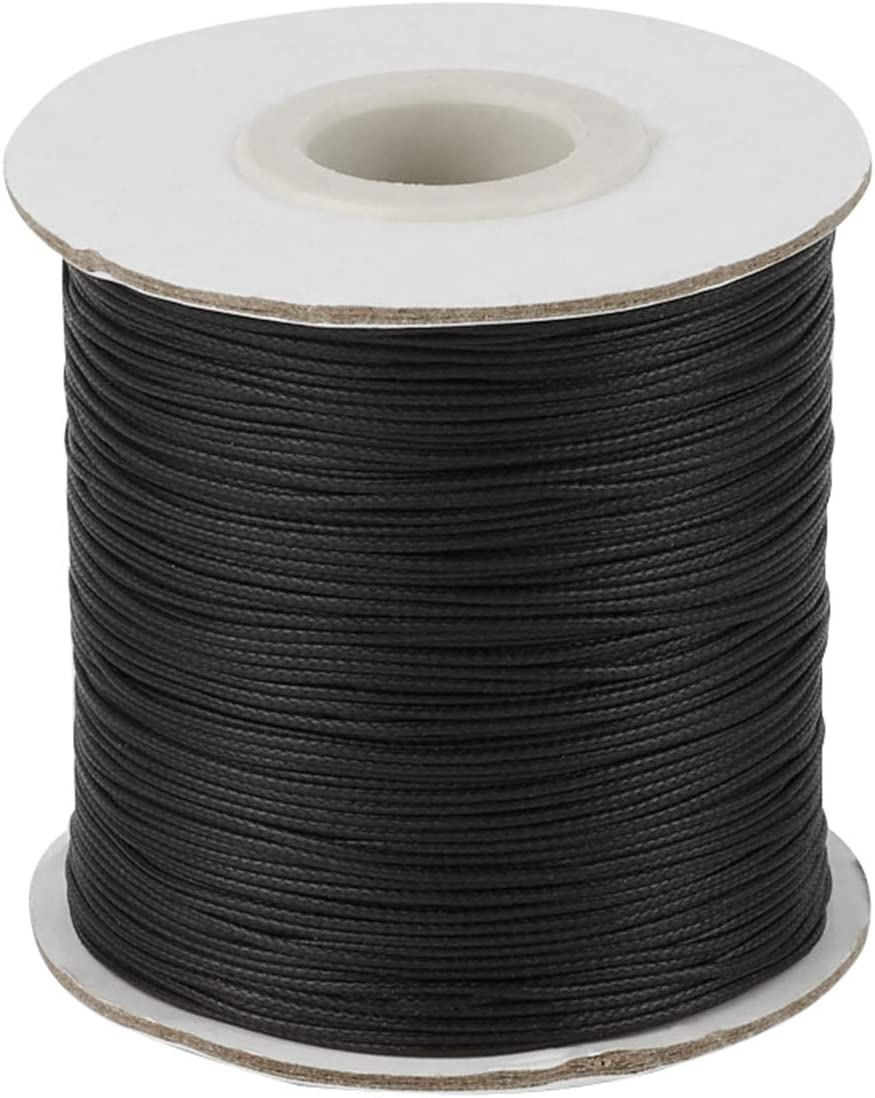 200 Yards Korean Waxed Polyester Beading Outlet sale feature Safety and trust Braided Str Black Cords