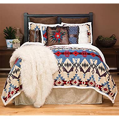 Carstens Blue River Plush Comforter Bedding Set, King