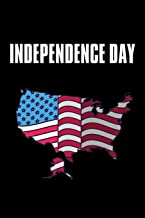 """Independence Day: No.2 Fourth of July U.S. Flags , Black Color Book 6x9"""" 100 Pages Blank Lined Notebook / Journal / Diary ..."""