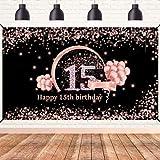 Lnlofen 15th Birthday Banner Backdrop...