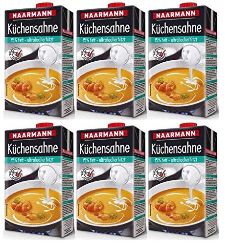 Küchensahne 15 % Naarmann 6x1000 g