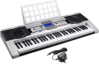 Yescom 61 Key Digital Music Electronic Keyboard Electric Piano LCD Display Full Size